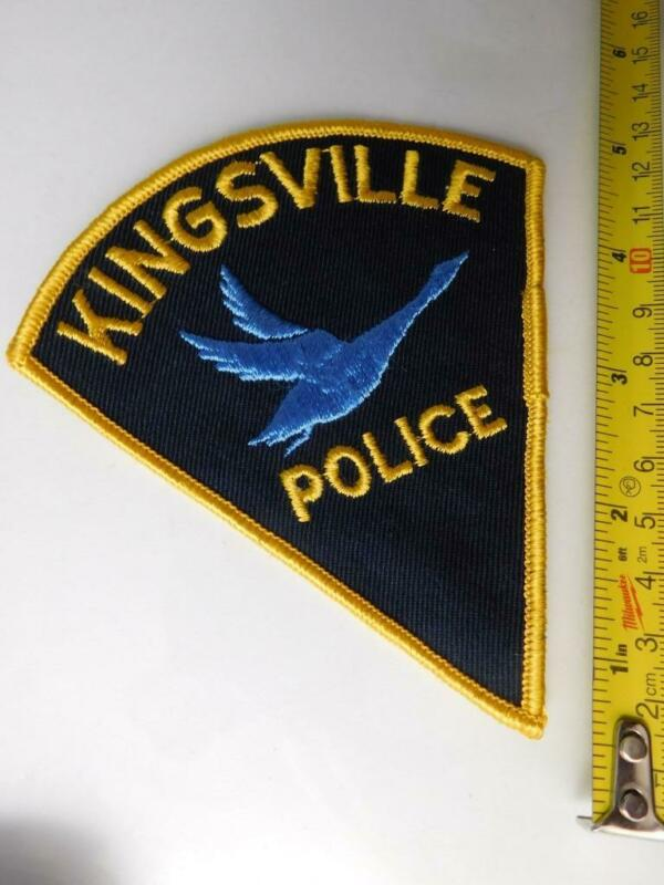 KINGSVILLE POLICE VINTAGE PATCH BADGE ONTARIO CANADA  COLLECTOR