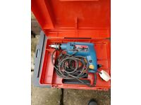 BOSCH HAMMER DRILL CORDED VARIABLE SPEED HALF INCH CHUCK and KEY SIDE HANDLE with DRILL CASE £10