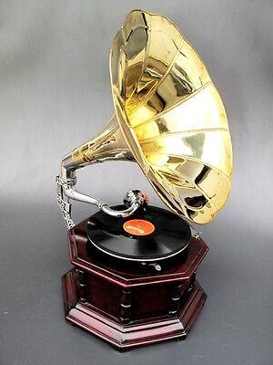 Achteckiges Trichter - Grammophon * Soundmaster  Gramofon * 20.JHD *Antik Stil