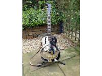 Ozark resonator steel guitar with case