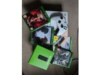 Xbox one S 500GB with 4 Games and free media remote