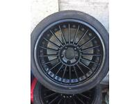"""18"""" 5 stud multispoke alloys and tyres"""