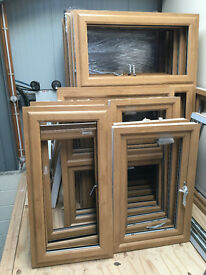 UPVC Windows - Irish Oak