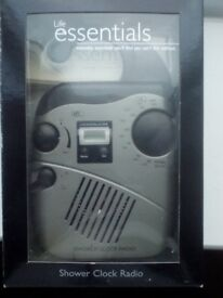 NEW PyleHome PSR6 Hanging Waterproof AM/FM Shower Clock Radio only £7