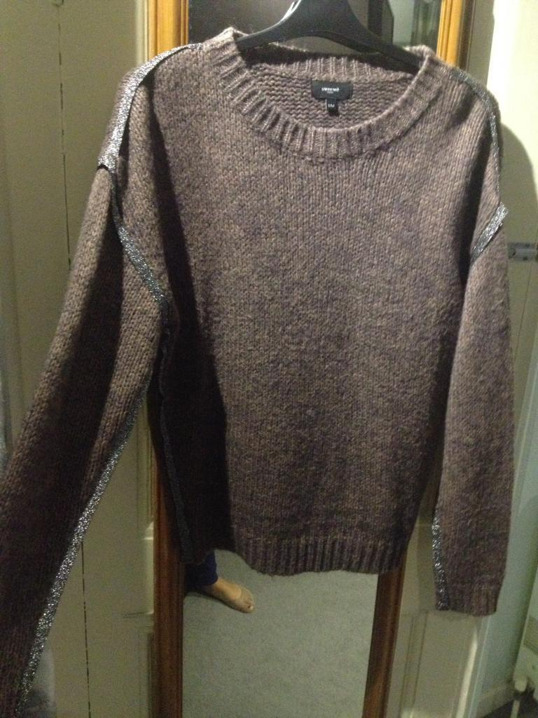 Brown jumper by sweewe paris size small / medium which fits size 10 and 12