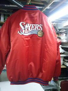 NIKE  N.B.A. PHILADELPHIA 76ers SATIN LINED JACKET XL- 2XL MINT