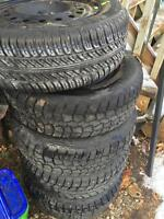 5 Winter Tires for Sale, with Rims