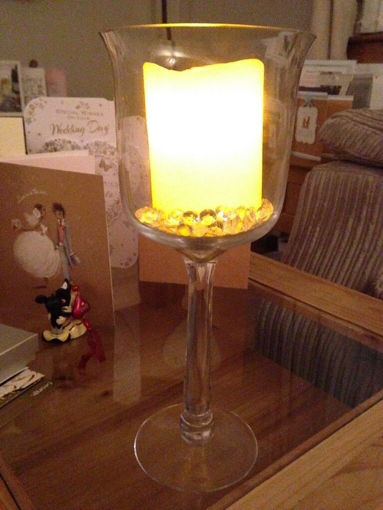 3 x Large candle holders