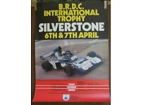Original Silverstone Motor Racing Poster from 1974 BRDC International Trophy Race - Formula 1