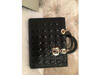 Christian Dior Lady Bag Large Black/Gold