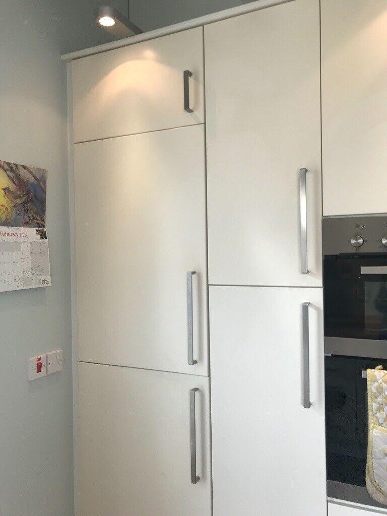 Second Hand Ikea Kitchen Solid Oak Work Tops Kitchen White Glass Cabinet Lots Of Storage In Cupar Fife Gumtree