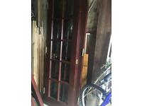 Two sets of interior French doors