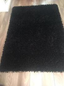 Gooch razzle dazzle heavyweight black hand woven rug