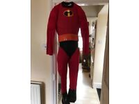 Incredibles outfit adult large used