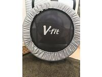 V-fit exercise rebounder/mini trampoline