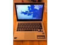 Sony Vaio laptop ultrabook touchscreen, 13.3inch screen, 500gb HDD. Cheap excellent laptop
