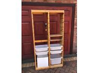 Ikea trofast storage unit and trays
