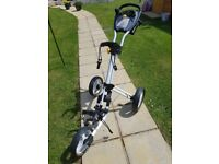 Powercaddy push trolley , only used for 3 rounds. Like New very good condition very light