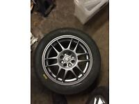 Renault Clio sport rs oz f1 alloys and track tyres