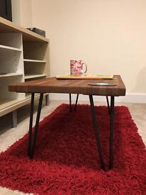 Retro Industrial looking Wood Coffee Table with Hairpin Legs