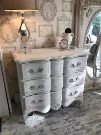 Solid wood French chest of draws