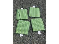Set of 4 garden chair seat pads