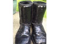 Hug Boots Sparkle size 4 and Half