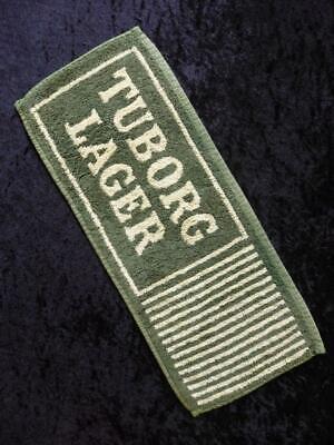 VINTAGE TUBORG LAGER Danish 1980s BEER Bar Towel RUNNER MAT NO Stains FREE POST