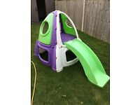 Kids outdoor rocket slide