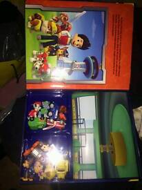 Paw patrol book and figures
