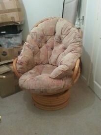cane chair with brand new padding