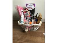 Cosmetics gift basket