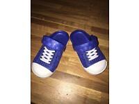 Blue infant crocs size 5 brand new