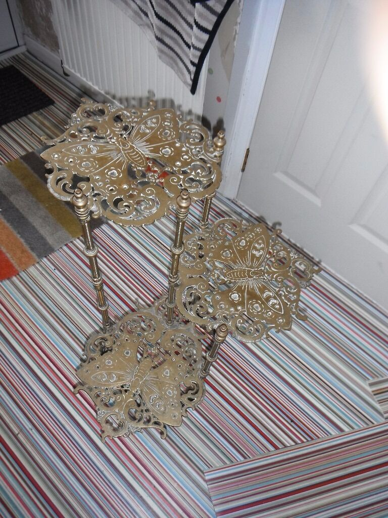 Brass ornament stand - Brass Three Tier Ornament Stand