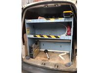 Perfect for a SWB caddy spot on it £380 ex British Gas Shelf Racking