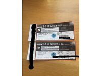 ** ED SHEERAN ** £160 pair 24th May Manchester exc seats!!!!!!!!!!!!