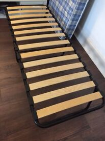 Small Single Jaybe Foldup Bed with Wooden Sprung Slats