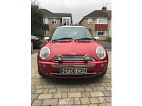 Red Mini Cooper 1.6 3dr hatchback