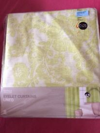 BERYL FLORAL JACQUARD - GREEN - M+S curtains - BRAND NEW RRP £125
