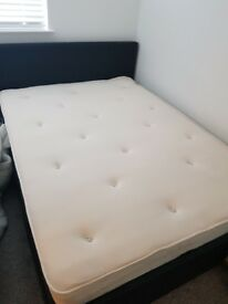 Double bed and mattress ... storage ottoman bed