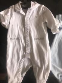Baby Armani sleep suit