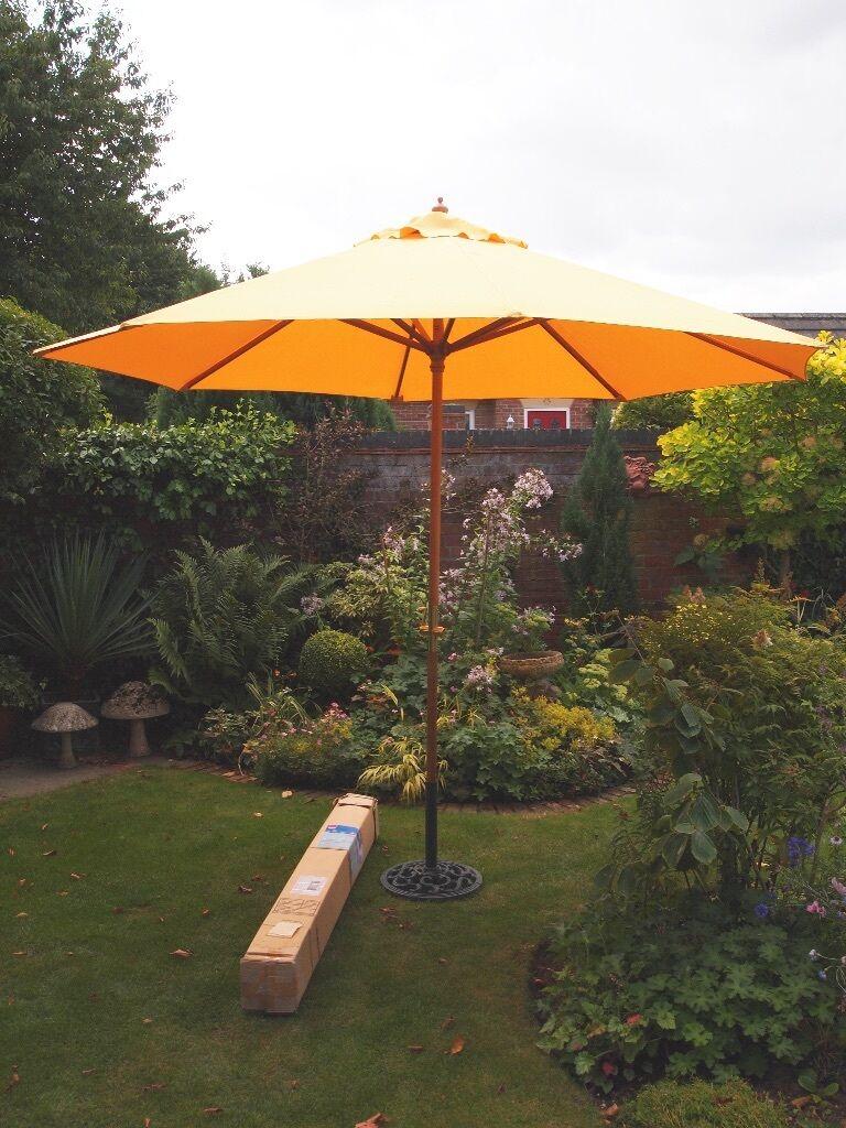Sunny yellow garden parasol | in Beverley, East Yorkshire | Gumtree