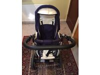 Pushchair Package with car seat, Baby Bath, Moses basket rocking stand