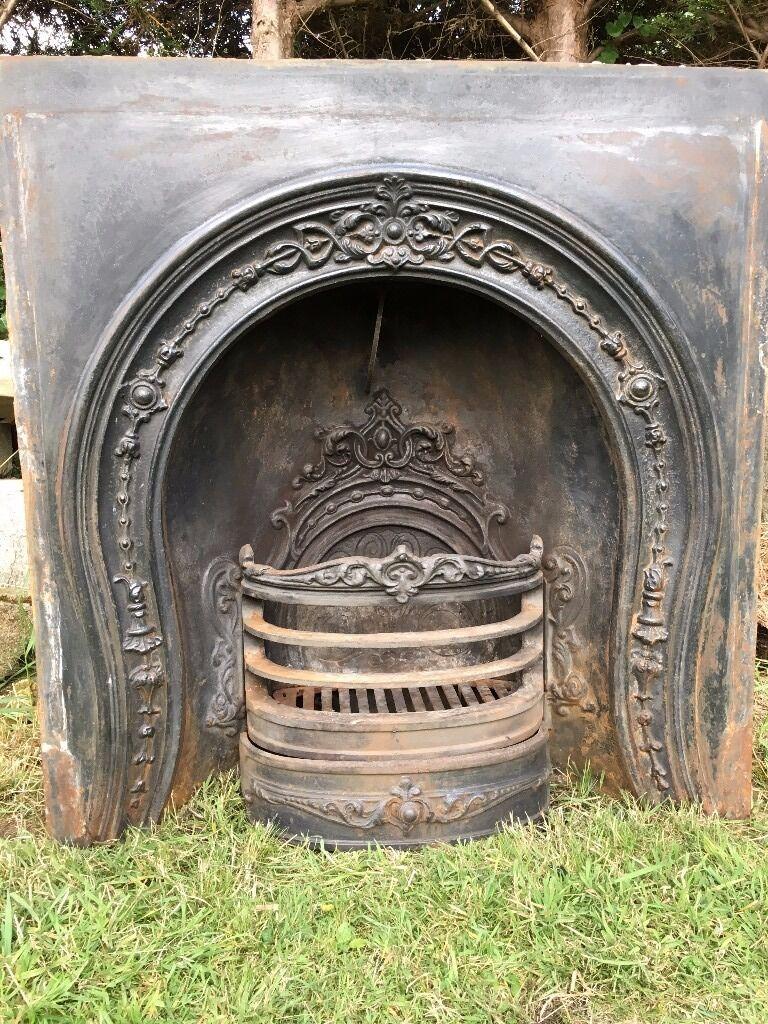 vintage stovax cast iron horseshoe fireplace insert victorian