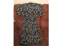 BRAND NEW Lovely M&S Ladies DRESS, Size 8. Black with Green Sparkly pattern. Never been worn. £5.
