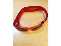 Baby Banz Baby's Oval Sunglasses, Red