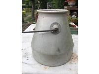 Vintage Galvanised Milk Churn Bucket For Sale