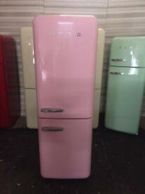 PINK SMEG FAB32 FRIDGE FREEZER. WITH WARRANTY. CAN DELIVER