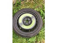 Space Saver Spare Wheel Audi A4 2008, A5 2007, A6 2011 onward: 19 Inch + Jack, Tools, Inset & Cover