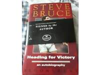 Signed Steve Bruce Autobiography